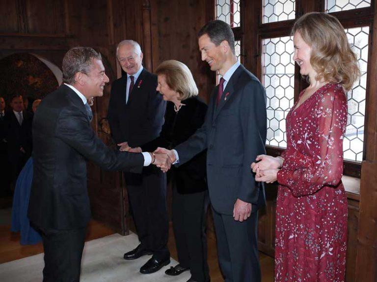 Il Principe Ereditario del Liechtenstein riceve l'ambasciatore Dario Item