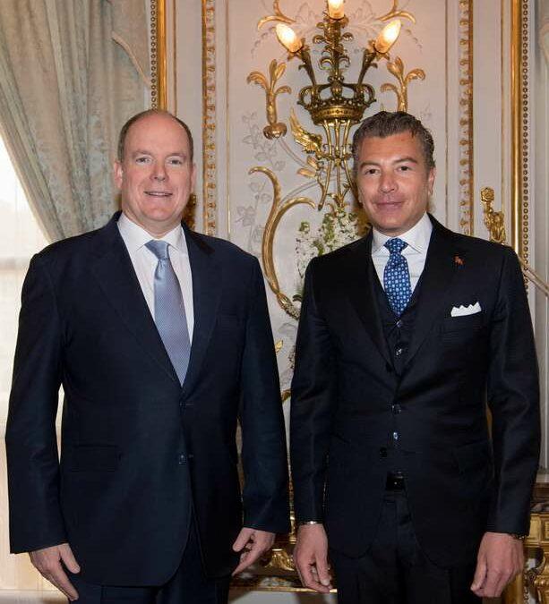 Ambasciatore Dario Item presenta le credenziali al Principe Alberto II di Monaco